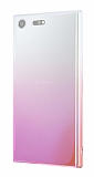 Eiroo Gradient Sony Xperia XZ Premium Geçişli Pembe Rubber Kılıf