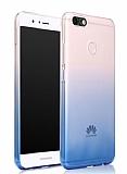 Eiroo Gradient Huawei Y7 2018 Geçişli Mavi Rubber Kılıf