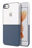 Eiroo Half to Life iPhone 6 / 6S Lacivert Silikon Kılıf