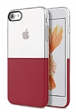 Eiroo Half to Life iPhone 6 Plus / 6S Plus Bordo Silikon Kılıf