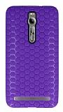 Eiroo Honeycomb Asus Zenfone 2 Mor Silikon Kılıf