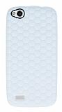 Eiroo Honeycomb General Mobile Discovery Beyaz Silikon K�l�f