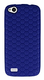 Eiroo Honeycomb General Mobile Discovery Lacivert Silikon Kılıf