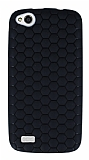 Eiroo Honeycomb General Mobile Discovery Siyah Silikon K�l�f