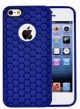 Eiroo Honeycomb iPhone 5 / 5S Lacivert Silikon K�l�f