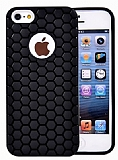 Eiroo Honeycomb iPhone 5 / 5S Siyah Silikon K�l�f