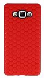 Eiroo Honeycomb Samsung Galaxy A7 Kırmızı Silikon Kılıf