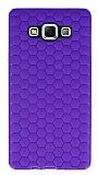 Eiroo Honeycomb Samsung Galaxy A7 Mor Silikon Kılıf