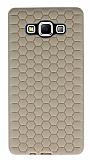 Eiroo Honeycomb Samsung Galaxy A7 Krem Silikon Kılıf