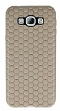 Eiroo Honeycomb Samsung Galaxy A8 Krem Silikon Kılıf