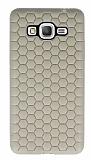 Eiroo Honeycomb Samsung Galaxy Grand Prime / Prime Plus Krem Silikon Kılıf