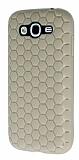 Eiroo Honeycomb Samsung Galaxy Grand Krem Silikon Kılıf
