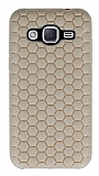 Eiroo Honeycomb Samsung Galaxy J2 Krem Silikon K�l�f