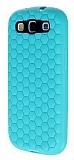 Eiroo Honeycomb Samsung i9300 Galaxy S3 Su Ye�ili Silikon K�l�f