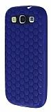 Eiroo Honeycomb Samsung i9300 Galaxy S3 Lacivert Silikon K�l�f