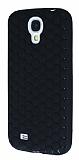 Eiroo Honeycomb Samsung i9500 Galaxy S4 Siyah Silikon K�l�f