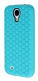 Eiroo Honeycomb Samsung i9500 Galaxy S4 Su Ye�ili Silikon K�l�f