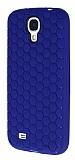 Eiroo Honeycomb Samsung i9500 Galaxy S4 Lacivert Silikon K�l�f