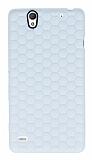 Eiroo Honeycomb Sony Xperia C4 Beyaz Silikon Kılıf
