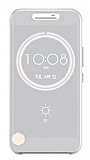 Eiroo HTC 10 Ice View Cover Şeffaf Beyaz Kılıf