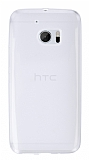 HTC 10 Ultra İnce Şeffaf Silikon Kılıf