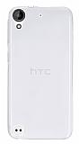 HTC Desire 530 Ultra İnce Şeffaf Silikon Kılıf