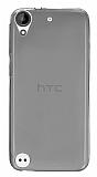 HTC Desire 530 Ultra İnce Şeffaf Siyah Silikon Kılıf