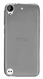Eiroo HTC Desire 530 Ultra İnce Şeffaf Siyah Silikon Kılıf