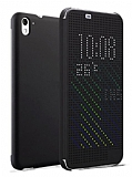 Eiroo HTC Desire 626 Dot View Uyku Modlu İnce Yan Kapaklı Siyah Kılıf