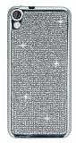 Eiroo HTC Desire 820 Taşlı Silver Silikon Kılıf