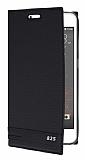 HTC Desire 825 / Desire 10 Lifestyle Gizli Mıknatıslı Yan Kapaklı Siyah Deri Kılıf