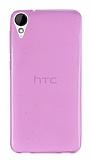 HTC Desire 825 / Desire 10 Lifestyle Ultra İnce Şeffaf Pembe Silikon Kılıf