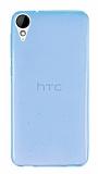 HTC Desire 825 / Desire 10 Lifestyle Ultra İnce Şeffaf Mavi Silikon Kılıf