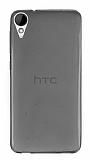 HTC Desire 825 / Desire 10 Lifestyle Ultra İnce Şeffaf Siyah Silikon Kılıf