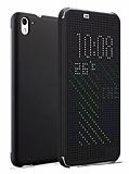 Eiroo HTC Desire 826 Dot View Uyku Modlu İnce Yan Kapaklı Siyah Kılıf