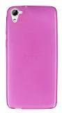 HTC Desire 826 Ultra İnce Pembe Silikon Kılıf