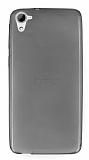 HTC Desire 826 Ultra İnce Şeffaf Siyah Silikon Kılıf