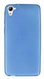 HTC Desire 826 Ultra İnce Mavi Silikon Kılıf