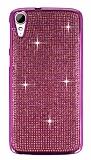 Eiroo HTC Desire 828 Taşlı Pembe Silikon Kılıf