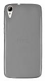 HTC Desire 828 Ultra İnce Şeffaf Siyah Silikon Kılıf