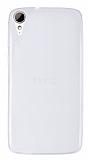 HTC Desire 828 Ultra İnce Şeffaf Silikon Kılıf