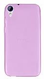 HTC Desire 830 Ultra İnce Şeffaf Pembe Silikon Kılıf