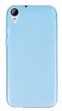 HTC Desire 830 Ultra İnce Şeffaf Mavi Silikon Kılıf