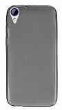 HTC Desire 830 Ultra İnce Şeffaf Siyah Silikon Kılıf