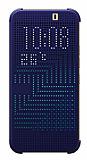 Eiroo HTC One M9 Dot View Uyku Modlu Lacivert K�l�f