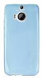 HTC One M9 Plus Ultra İnce Şeffaf Açık Mavi Silikon Kılıf