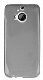 HTC One M9 Plus Ultra İnce Şeffaf Siyah Silikon Kılıf
