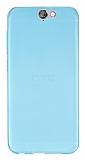 HTC One A9 Ultra İnce Şeffaf Mavi Silikon Kılıf