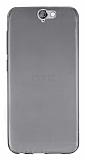 HTC One A9 Ultra İnce Şeffaf Siyah Silikon Kılıf