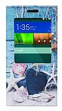Eiroo Huawei Ascend G7 Gizli M�knat�sl� Pencereli Deniz Y�ld�z� Deri K�l�f